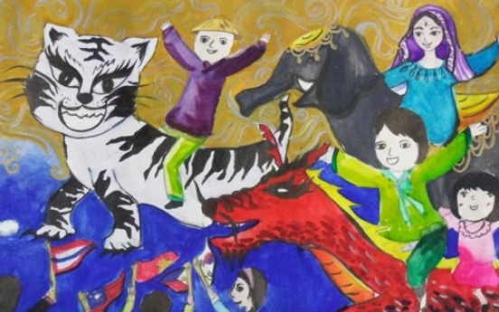 ASEAN Center exhibits contest-winning drawings