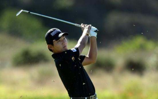 Kang leads at Torrey, Woods five adrift