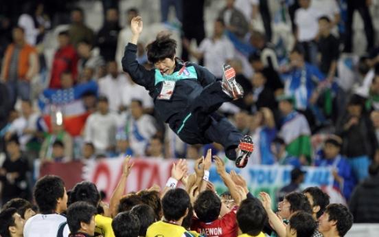 S. Korean footballer Park Ji-sung retires from international play