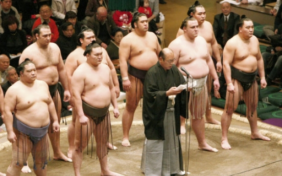 The opening of a new year sumo tournament in Tokyo