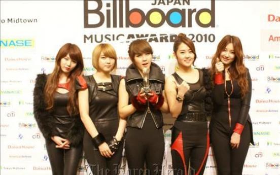 4Minute wins K-pop award in Japan