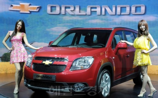 GM Daewoo unveils first Chevy model