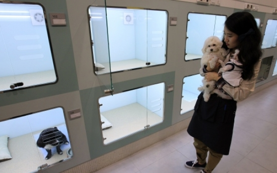 A pet hotel recently opened in Seoul
