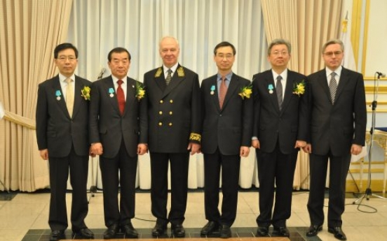 First five Koreans decorated by Russian president
