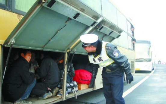 7 found hiding in bus luggage hold