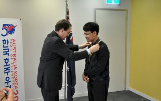 Math genius honored by Australia