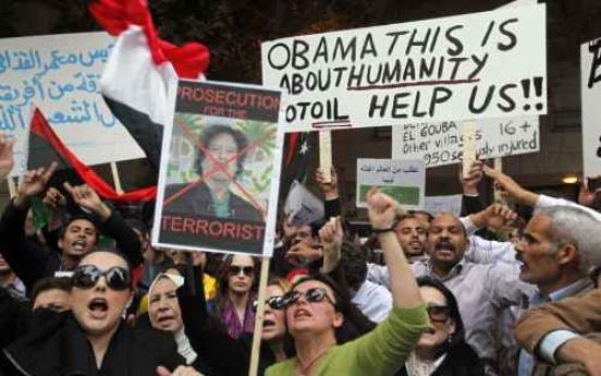 Gadhafi's son warns of civil war in Libya