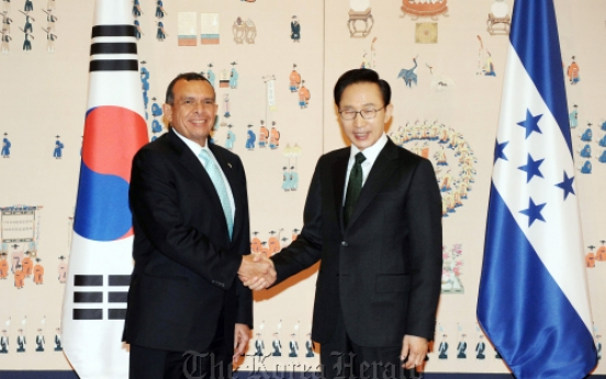 Korea, Honduras agree to forge closer ties