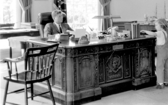 Virtual president's desk enlivens JFK's 1800s office