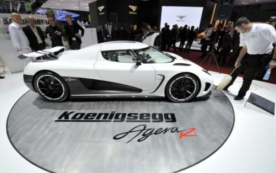 A new Koenigsegg Agera R car