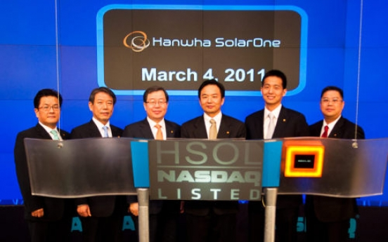 Hanwha SolarOne gets new start on NASDAQ