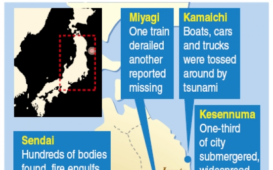 Japan launches search, rescue effort