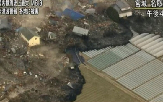 Disaster images of Japan lend visual power