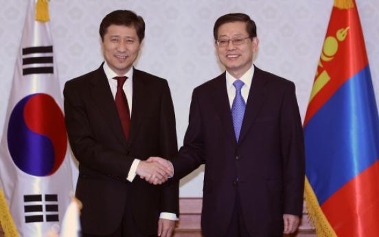 S. Korea, Mongolia talk economic, civilian ties