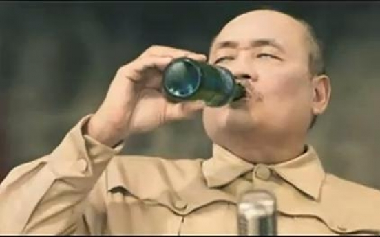 Dictator Kim becomes popular drink's model
