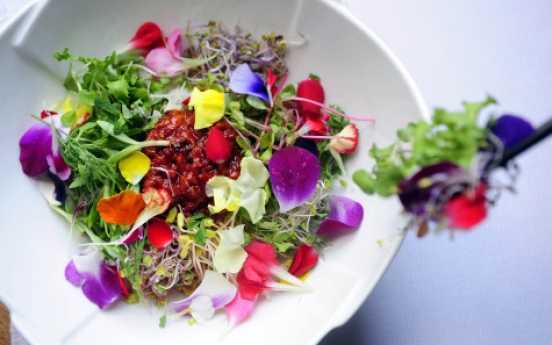 Spring on a plate