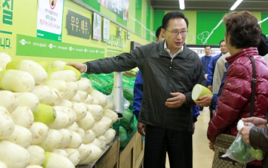 Korea to contain price hikes of farm products
