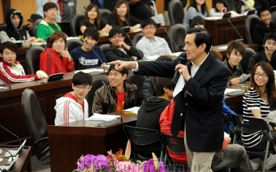 Taiwan leader sets Korean record straight