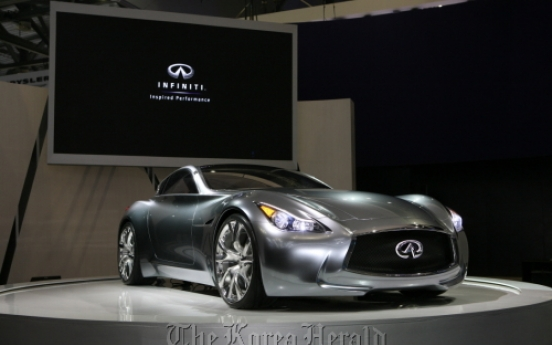 Infiniti Essence concept car on display