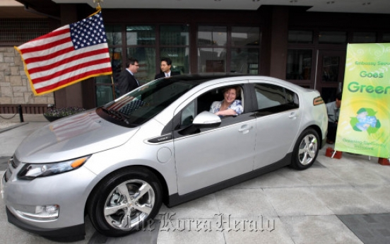 GM Korea road tests Volt electric car