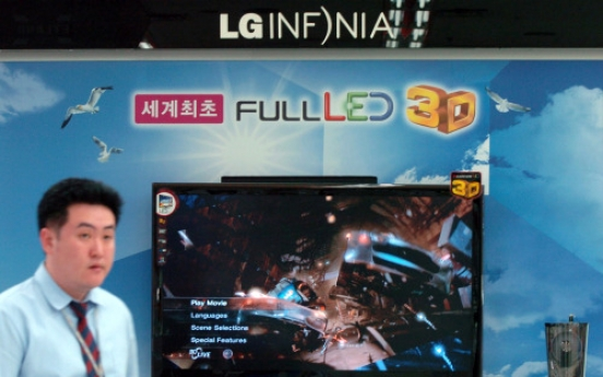 LG gets best rating on its 3-D television