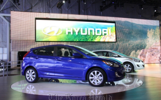 Hyundai, Kia show off wares in N.Y.