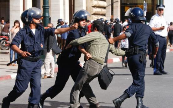Police disperse demos in Morocco