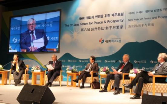 Jeju Forum debates global peace, economy, culture
