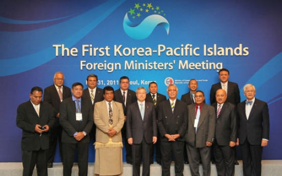 Ministers from Pacific islands discuss climate change, relations