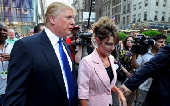 Palin stops off in N.Y. to visit Trump