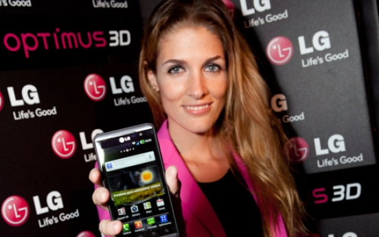 LGE globally launches Optimus 3-D phone
