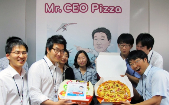 CEO pizzas charm 1,000 LGE employees