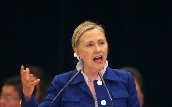 Clinton: Gadhafi threats won't deter NATO mission