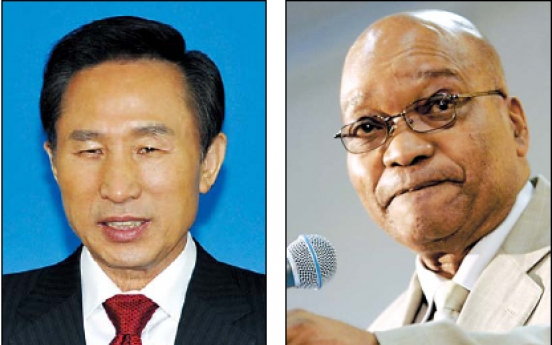 Lee discusses nuclear plant deal with Zuma