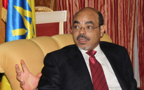 Ethiopia trying to benchmark S. Korea, P.M. Zenawi says
