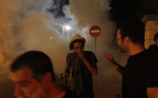 Cyprus protesters enter presidential palace grounds