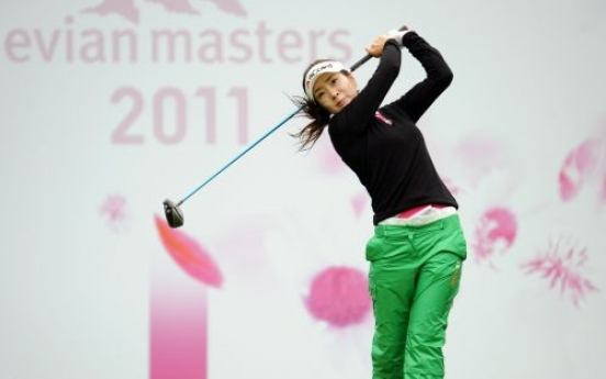 Ahn shares lead at Evian Masters