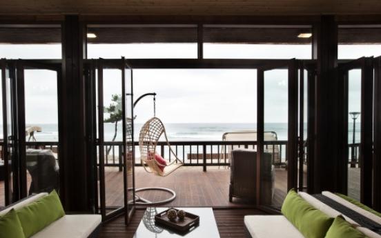 Enjoy private beach lounge in Jeju