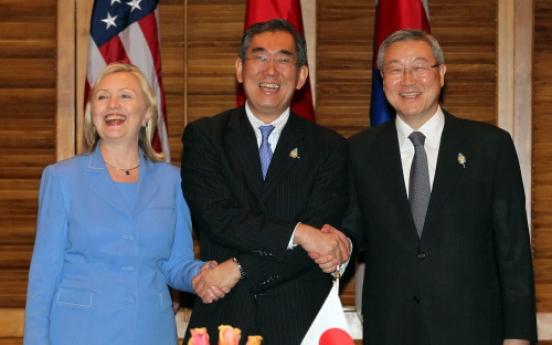 Three allies urge N.K. on denuclearization