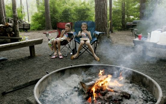 Camping fires up creativity in cooking