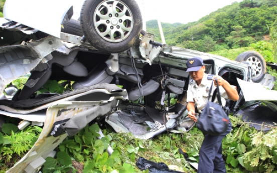 Five killed after vehicle overturns