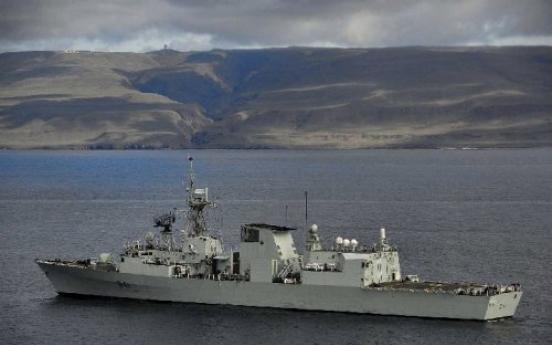 Canadian frigate visits Busan