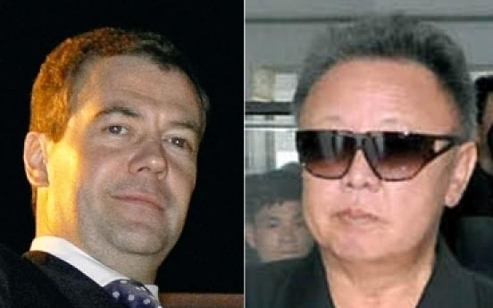 N.Korean leader in Russia, will meet with Medvedev