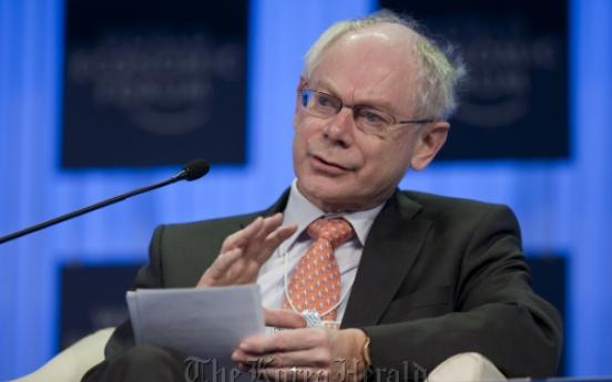 Rompuy opposes common euro bonds