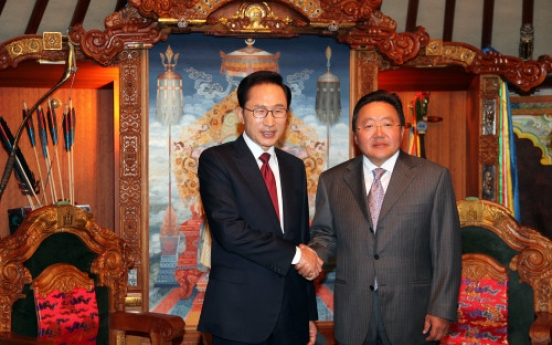Korea, Mongolia lift ties to comprehensive partnership