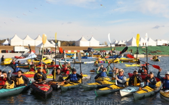 KTO holds kayaking event at newly restored four rivers
