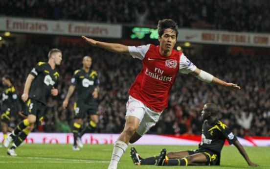 Park scores first Arsenal goal in League Cup win