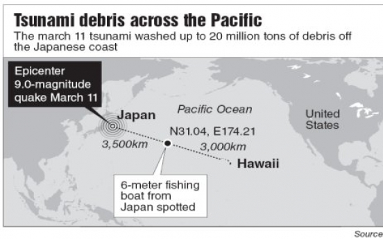 Japan tsunami debris floats toward Hawaii