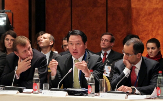 SK chief calls G20 business leaders' attention to corporate responsibility