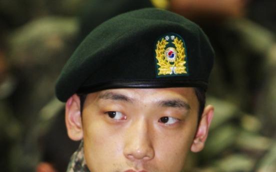 Pop star Rain adjusting well to military life